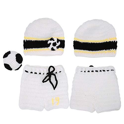Ropa para bebs, nios y nias, gorro de punto de ganchillo para bebs, pantalones, accesorios de fotografa, ropa de lana para bebs, regalos para recin nacidos, 3 piezas