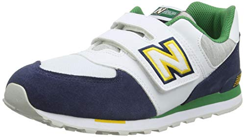 New Balance Jungen 574 YV574NLB Medium Sneaker, Blue (Natural Indigo NLB), 38 EU