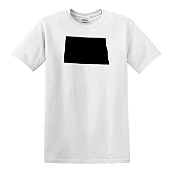 fagraphix Men s North Dakota Shaped T-Shirt XXX-Large White