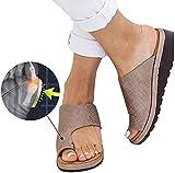 AIJOAIM Femmes Sandale Chaussures Grand Toe Bone Pantoufles De Correction Semi Trailer Correcteur D'oignon pour Hallux Valgus Soins De Pieds,2,41