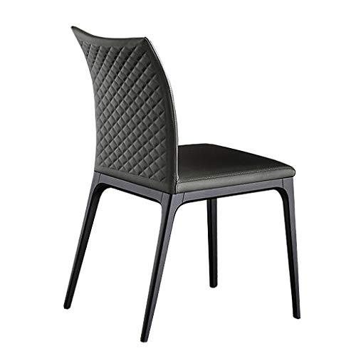 Dining Chair Hermosa silla simple escritorio de estudiante y silla de maquillaje taburete de ordenador para volver a casa fuerte (color: gris oscuro)