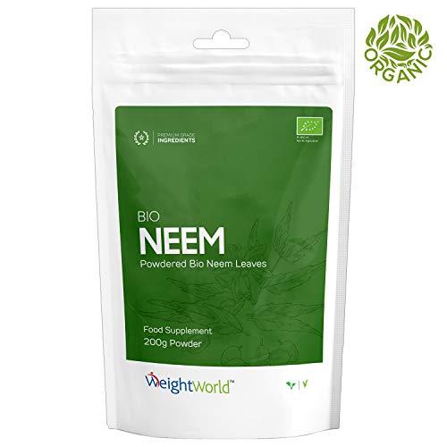BIO Neem Pulver - 200g Vegan Organic Powder für Detox & Immunsystem, Für Kopfhaut & Haar, Gesicht...
