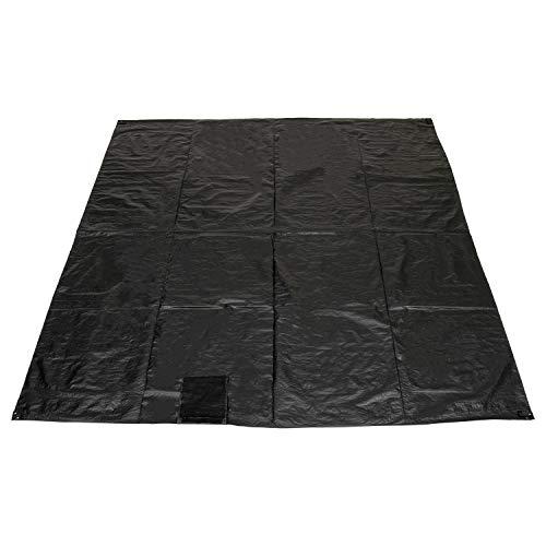 モダンデコ グランドシート テントシート 折りたたみ キャンプ (ブラック, 300×300cm)