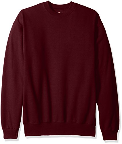 Hanes Men's EcoSmart Fleece Sweatshirt, Maroon, Large
