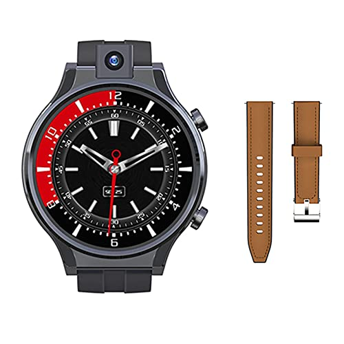 ZGLXZ GPS Smart Watch, Android 10 WIFI Smartwatch 4G 1600Mah 13MP Camera 2.1 Inch Full Touch Android Watch Phone for Ios/Android,B