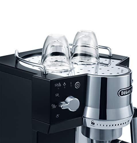 Delonghi EC820.B Cafetera Espresso, 1450 W, 1 Litro, Acero Inoxidable,