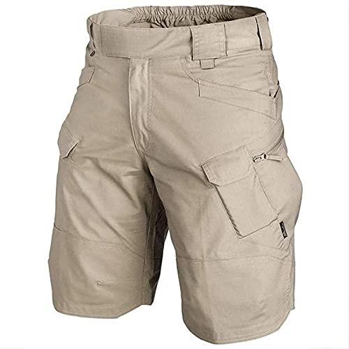 XTONG Pantalones Cortos TáCticos Urbanos/para Exteriores Hombres, TáCticos Impermeables Mejorados, Pantalones TáCticos Mejorados Transpirables Secado RáPido Hombres 3XL Caqui