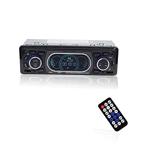 Annadue Reproductor de MP3 para Coche, Llamada Manos Libres Bluetooth, con Mando a Distancia, Diseño de Panel de Instrumentos, Interfaces USB Dobles, Carga Rápida, Soporte para Carga de Teléfono