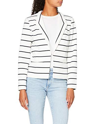 Mexx Damen Jacke, Mehrfarbig (Blanc De Blanc/Dark Sapphire Striped 318770), X-Small (Herstellergröße: XS)