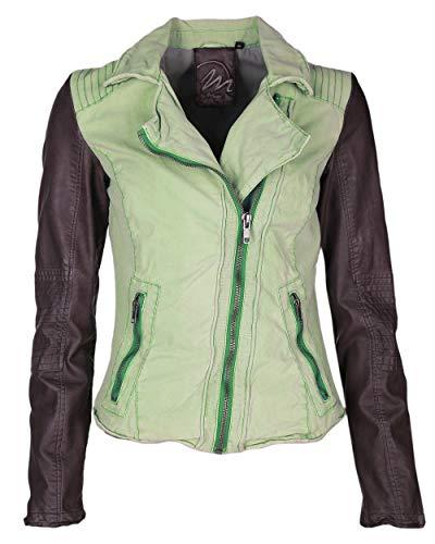 Maze Damen Jacke In Taillierter Passform Peoria Grey/Khaki L