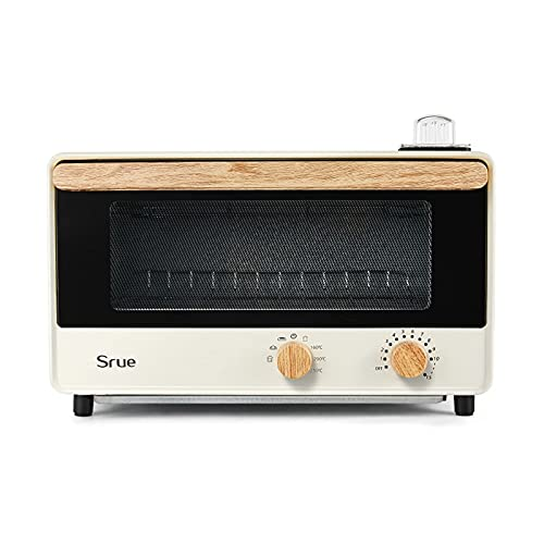 Mini horno, tostadora de 10L Tablero de mesa para hornear horno portátil 1300W 60 min Temporizador 30-230 ° Tubo de calentamiento de acero inoxidable incl.Bandeja de hornear y estante de alambre. Frei