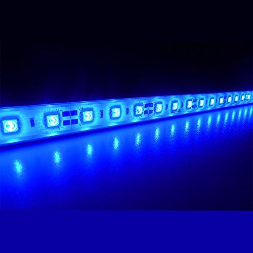 "LEDENET 20"" Blue Super Bright 30LEDs 5050 - Aquarium LED Strip for Fish Tanks - Waterproof Aluminum Lighting 12V DC (Blue, 20"" Long)"