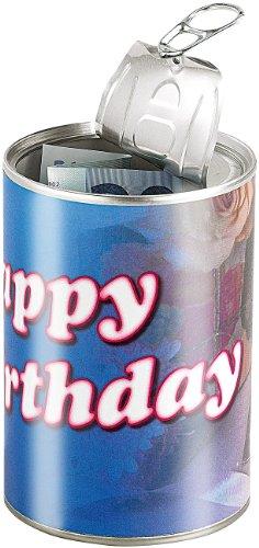 infactory Geschenk verpacken: Geschenkdose Happy Birthday: Originelle Präsent-Verpackung (Geschenk in Dose verpacken)