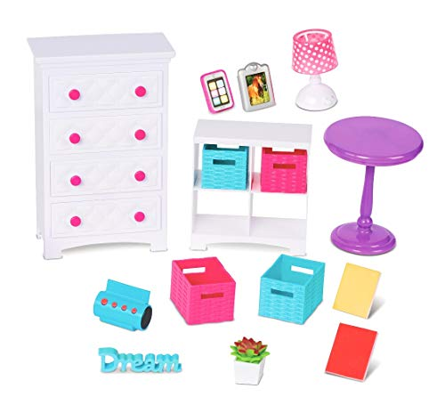 My Life As Bedroom Set for 18u0022 Doll, 16 Pieces