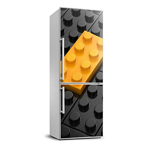 Tulup Etiqueta Engomada Del Refrigerador Película Autoadhesiva 60x180 cm Cubierta Del Refrigerador Cubierta Pegatinas Pared Decoración Sala de Estar Cocina - piezas de Lego