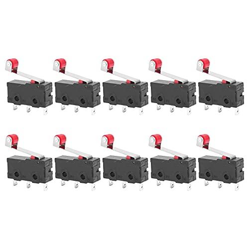 HLPIGF 10pzs interruptor de limite Accion rapida SPDT brazo de palanca de rodillo LOTE