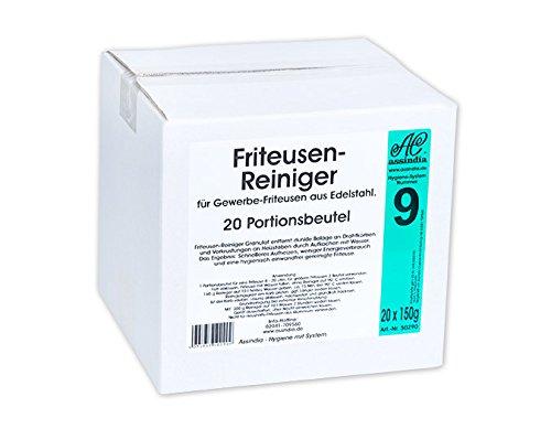 Assindia Friteusen-Reiniger Granulat Fritteusenreiniger Pulver 20x Portionsbeutel