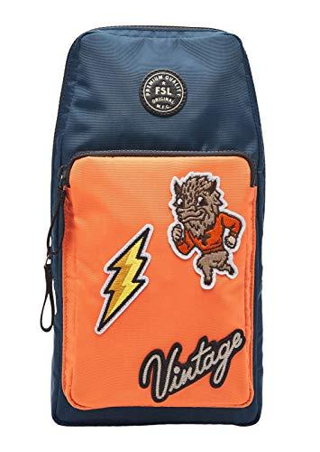 Fossil Sport - Toppe per borsa a tracolla in poliestere arancione da uomo MBG9515820