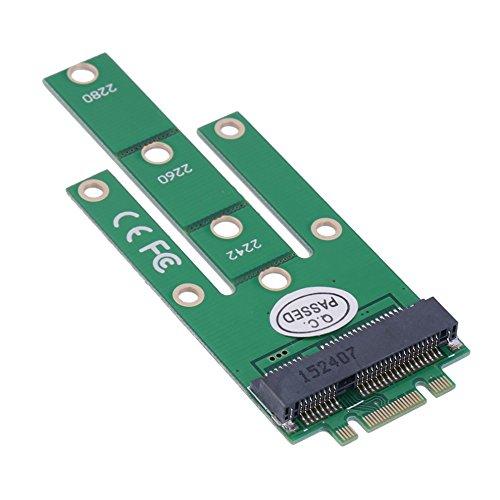 CY M.2 NGFF PCI-E 2 Lane Goldener Fingerstift auf 50 mm Mini-PCIE mSATA 18 + 8 SSD-Festplatten-PCBA