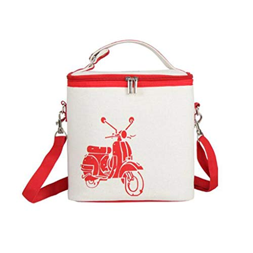 Hogar y cocina Cestas de Picnic Bolsa de almuerzo de mochila portátil de picnic con bolsa impermeable aislada para familia para llevar al aire libre para llevar Bento Bento Box Bag Exterior y Picnic C