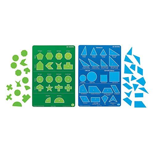 edx Education 2D Shapes Set - Learn Regular and Irregular Shapes - 152 Shapes Plus 4 Plastic Posters