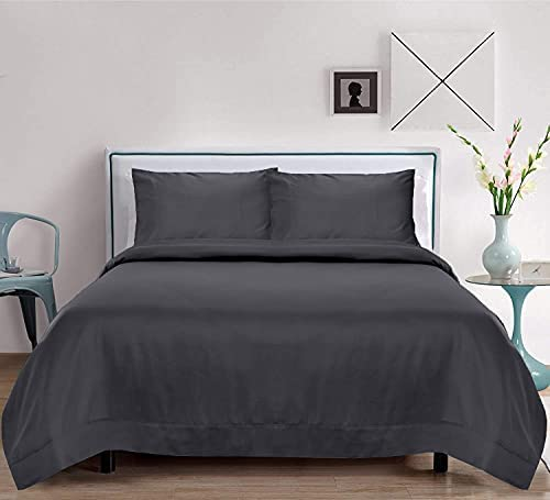 100% Organic Bamboo Sheets Set 4 PC – Natural Softest Cooling Christmas Bedding (Queen, Charcoal Grey)