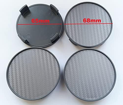 Born 1 Tapacubos de carbono, 4 unidades x 68 mm, para llantas con un diámetro interior de 64,5 – 65 mm del orificio de la llanta.