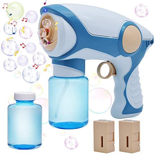 JOYIN Smoke Bubble Gun with 2 Bubble Solution (130ml), Toddlers Bubble...