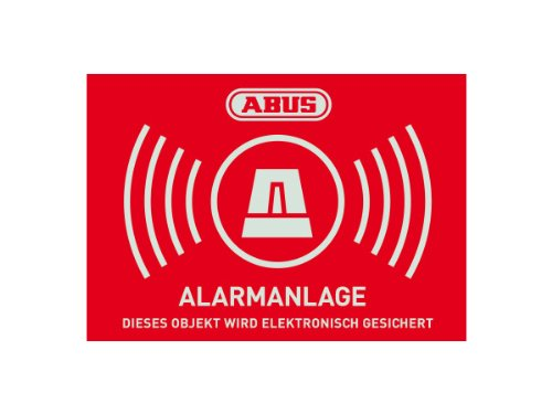 ABUS AU1423 Warnaufkleber Alarm -D- 74 x 52.5 mm