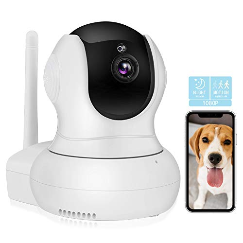 Dog Camera,TSW 1080P HD Wireless IP Camera with Night Vision/2-Way Audio, Pan/Tilt WiFi Indoor Home Dome Pet Baby Nanny Camera,Remote Surveillance Monitor with Phone App