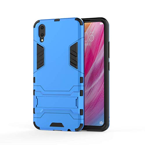 VIVO V11 Hülle, SsHhUu Stoßsichere Dual Layer Hybrid Tasche Schutzhülle mit Ständer für VIVO V11 / V11 Pro 2018 (6.41 Zoll) Blue