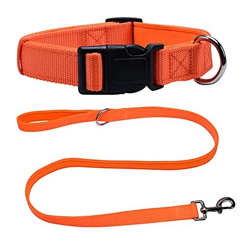 LCYY Collar de Perro, paño Interior de Espuma de algodón, Suave y cómodo, Enchufe fuertemente Fijo (9.8-14.9in)