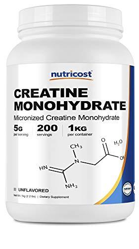 Nutricost Creatine Monohydrate Micronized Powder 1 KG  Pure Creatine Monohydrate