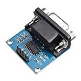 Chenbz Convertidor 20pcs RS232 a TTL Serie convertidor de Puerto del módulo Conector DB9 MAX3232 Módulo Módulo de Potencia de Serie