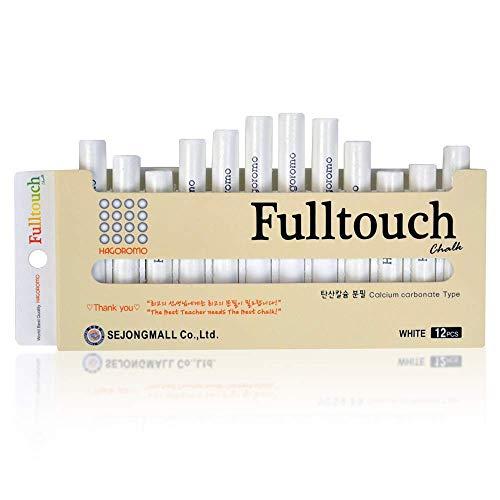 HAGOROMO Fulltouch Color Chalk 1 Box [12 Pcs/White]