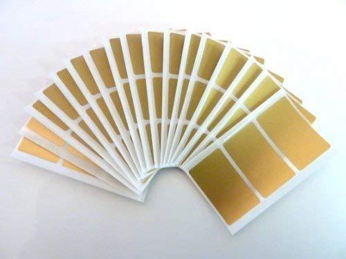 48x28mm Etikett, Rechteck, matt-gold, Plastik / Vinyl Farben Code Aufkleber, selbstklebende Selbstklebeetiketten