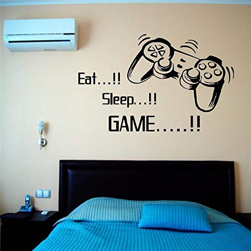 Geiqianjiumai wanddecoratie vinyl decoratieve stickers eten slaap spel spelers huishoudtextiel muursticker