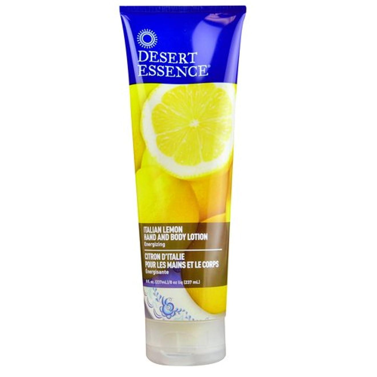グレード実験室多数のDesert Essence, Hand and Body Lotion, Italian Lemon, 8 fl oz (237 ml)