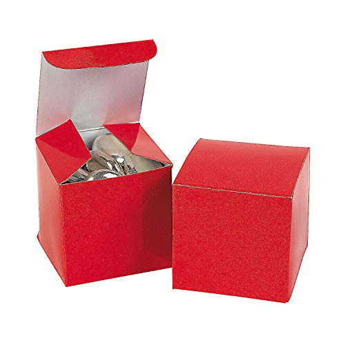 "Fun Express - 2"" Red Gift Boxes (24pc) for Wedding - Party Supplies - Containers & Boxes - Paper Boxes - Wedding - 24 Pieces"