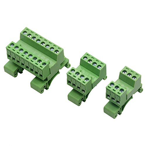 Kit de conectores de encogimiento de calor 5.08 mm 1pc Paso 4 pines Tornillo Conector Bloques terminales en carril DIN NS35mm 15P 16P 20P 12P Terminales de tierra ( Color : Rail 20cm long )