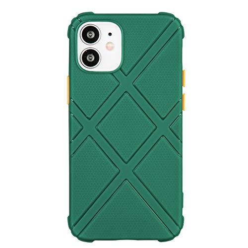 Silikon-Handyhülle für iPhone 12 (6,1 Zoll) (grün)
