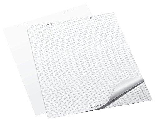Q-Connect KF01980 Flip Chart-Block, Flip Chart-Papier - Zubehör Flipchartblock kariert 80 g