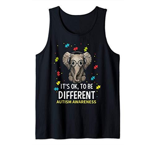 Está bien ser diferente Concienciación sobre el autismo Camiseta sin Mangas