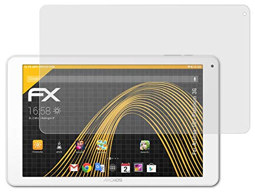 atFolix Panzerfolie kompatibel mit Archos 101 Platinum 3G Schutzfolie, entspiegelnde & stoßdämpfende FX Folie (2X)