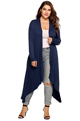 Featuring long sleeve, open front,high low hem,soft material,long maxi length Soft lightweight fabric is made from 95% Rayon and 22% Spandex Comfortable and Stylish This basic Cardigan can be worn with leggings, high heels,boots etc. It can be worn i...