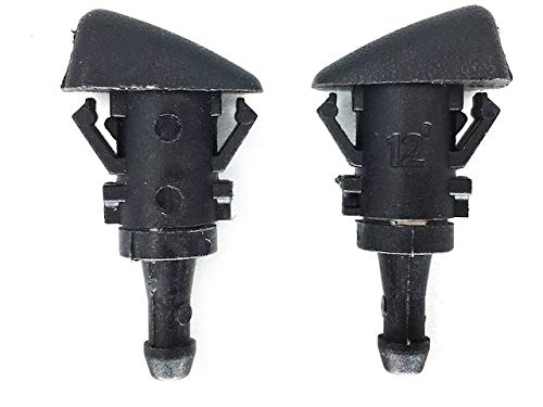Front Windshield Washer Nozzle Kit (Set of 2)- Compatible with 2001-2010 Chrysler PT Cruiser