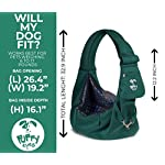 Puppy Eyes Pet Carrier Sling Ideal for Small & Medium Dogs, Cats or Rabbits up to 15 lb. Comfortable & Easy-Care | Free Seat Belt & Ebook | Adjustable & Reversible Design with Zippered Pocket 11