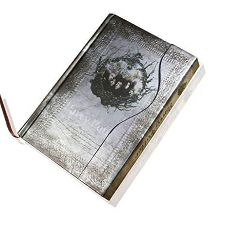 Cuadernos de Diario en Blanco de Papel Rayado Plan Cuaderno Retro Vintage/Libro Diario/Cuaderno de Tapa Dura/Bloc de Notas/Agenda Planner Gift Paquete de Trabajo Escolar Diario de Cuaderno de
