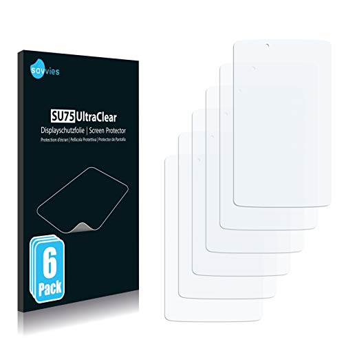 Savvies 6X Schutzfolie kompatibel mit LG G Pad 2 8.0 Bildschirmschutz-Folie Ultra-transparent