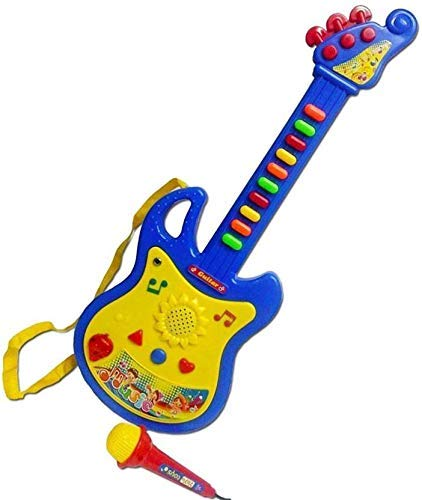 MM RETAILS Worlds Guitar Toys for Kids with Microphone(Multicolor)
